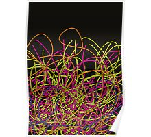 Colorful tangled wires Poster