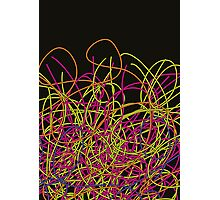 Colorful tangled wires Photographic Print