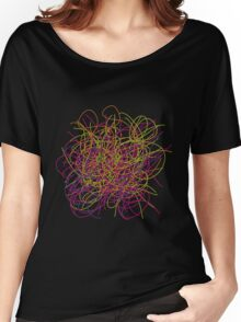 Colorful tangled wires Women's Relaxed Fit T-Shirt