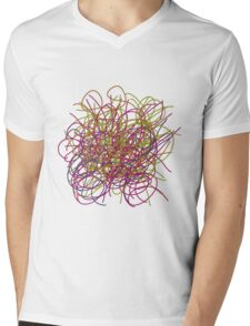 Colorful tangled wires Mens V-Neck T-Shirt