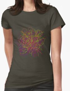 Colorful tangled wires Womens Fitted T-Shirt
