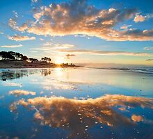 Papamoa Gold Refection by Ken Wright