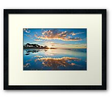 Papamoa Gold Refection Framed Print