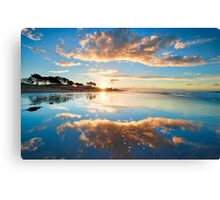 Papamoa Gold Refection Canvas Print