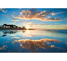 Papamoa Gold Refection Photographic Print