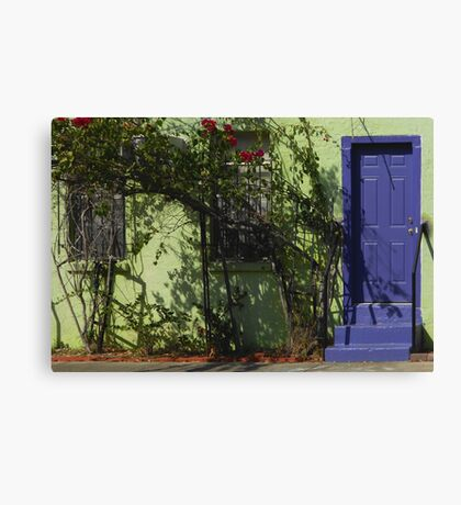 Blue Door in Gulfport Canvas Print