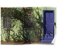 Blue Door in Gulfport Poster
