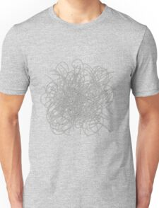 Black and white tangled wires Unisex T-Shirt