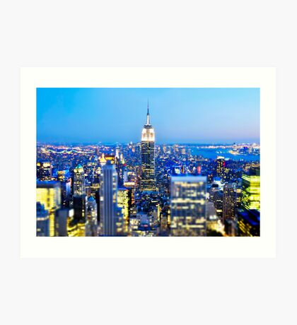 Empire State Building at Night: NYC Art Print