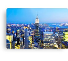 Empire State Building at Night: NYC Metal Print