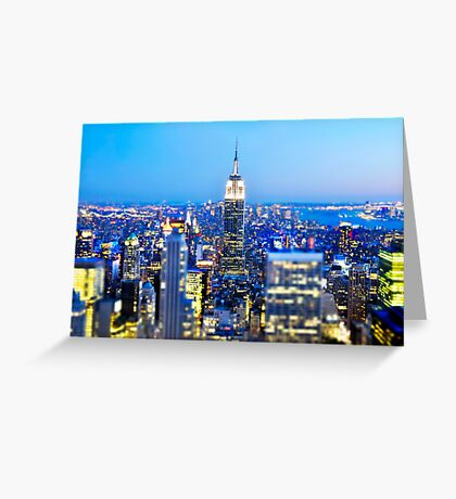 Empire State Building at Night: NYC Greeting Card