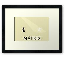 The Matrix - Minimal Poster Framed Print