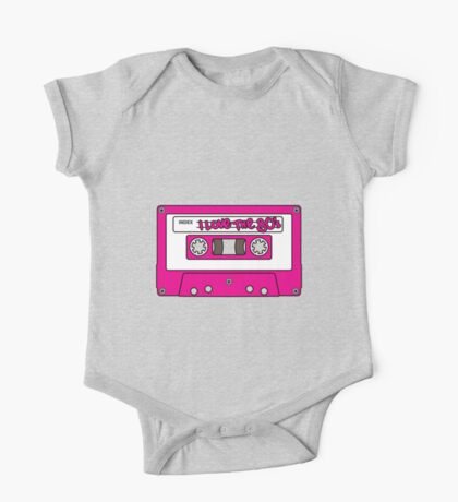 I love the 80's - pink tape One Piece - Short Sleeve