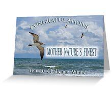 Top 10 Challenge Winner Banner Greeting Card