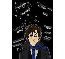 Sherlock drunk Photographic Print