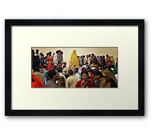The Yellow Sari Framed Print