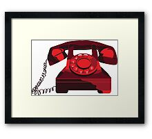 Red Phone Framed Print