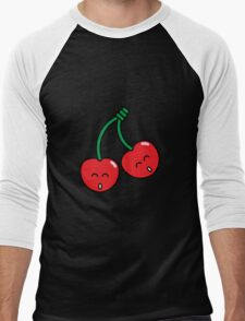 Cherry Twins Men's Baseball ¾ T-Shirt