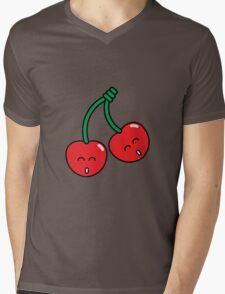 Cherry Twins Mens V-Neck T-Shirt
