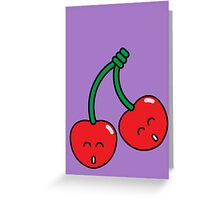 Cherry Twins Greeting Card