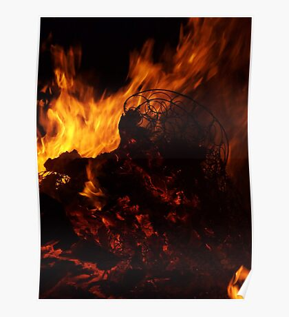 Flames Burning HIgh  Poster