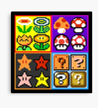 Mario Power-Up Evolution Canvas Print