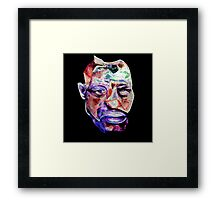 'Give A Man A Mask And He Will Show You His True Face' Framed Print