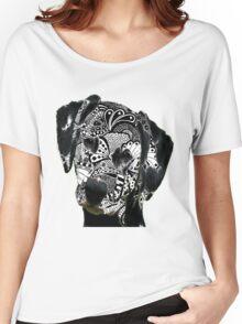 Zentangle Dalmation Dog Women's Relaxed Fit T-Shirt
