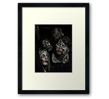 Zombies don't say 'Brains' Framed Print