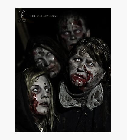 Zombies don't say 'Brains' Photographic Print