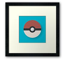 Simple Pokeball Framed Print