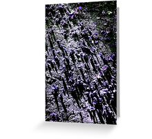 Ground purple Greeting Card