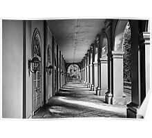 A Walkway With Arches Poster