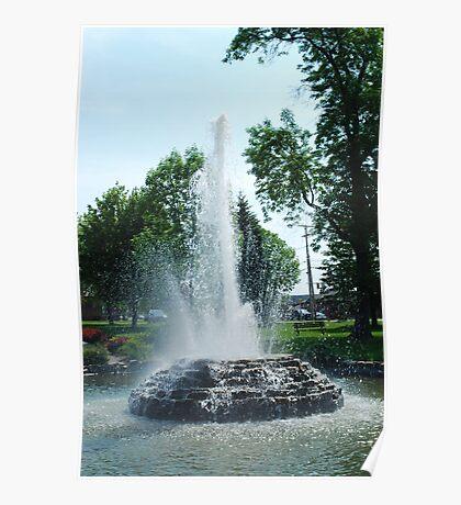 Bangor Park Fountain Poster