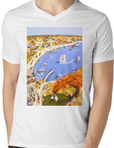 When summer arrives Mens V-Neck T-Shirt