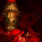 Oriental Snuff Bottle and Alstroemeria by Ann Garrett
