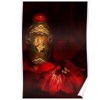 Oriental Snuff Bottle and Alstroemeria Poster