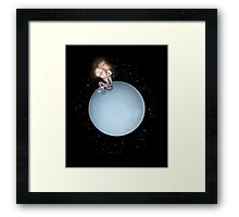 Lost in a Space / Uranusia Framed Print
