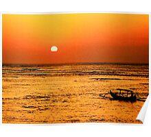 Bali Sunset, Kuta beach. Poster