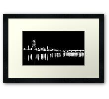 Perth at Night Framed Print