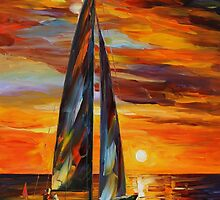 SAILING WITH THE SUN - LEONID AFREMOV by Leonid  Afremov