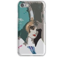 Pop arty tarot inspired collage - the world iPhone Case/Skin