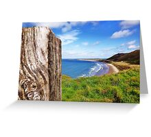 Llangenith Beach. Greeting Card