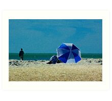 Beach Umbrella with Filter Art Print