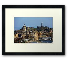 The Balmoral Hotel from the Castle Framed Print