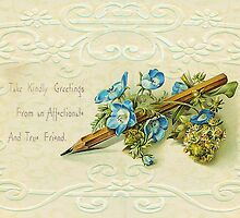 Take kindly greetings .... card. by Sandra Foster