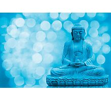 buddha light blue Photographic Print