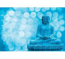 buddha light blue Photographic Print