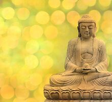 buddha light yellow by hannes cmarits