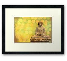 buddha light yellow Framed Print